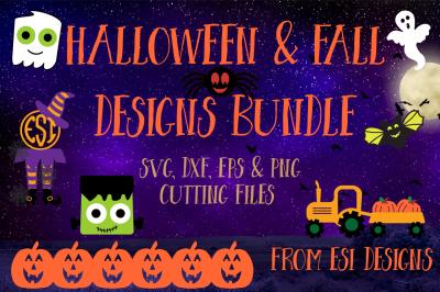 Halloween & Fall Designs Bundle - SVG, DXF, EPS & PNG