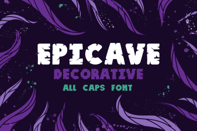 Epicave All Caps Bold Display Font