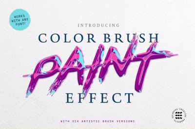 ABSTRACT PAINT TEXT EFFECTS