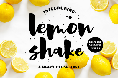 Lemon Shake, a heavy brush font