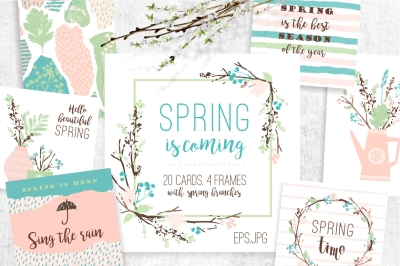 Spring is coming! Cards and frames.