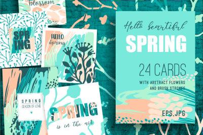 Hello spring! 24 creative art cards.