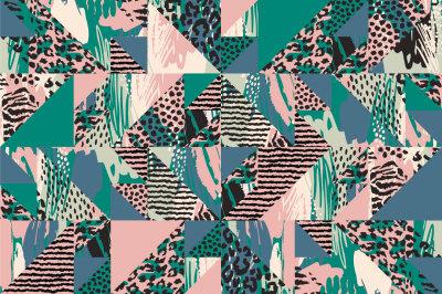 Patchwork animal pattern