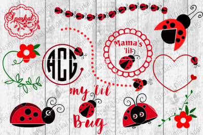 Bundled Lady Bug Set ~ SVG/DXF/PNG/EPS/PDF