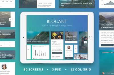 Blogant - UI Kit for Blogs & Magazines