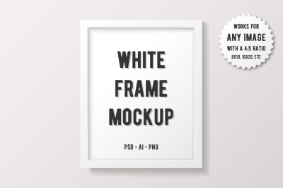 Simple White Frame Mockup