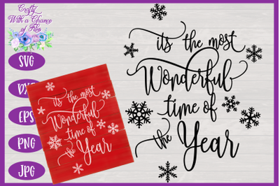Christmas SVG   It's The Most Wonderful Time Of The Year SVG   Winter
