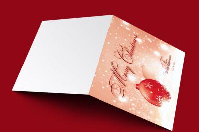 Merry Christmas Greeting Card Template V2