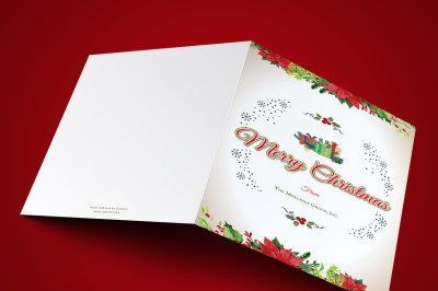 Vintage Christmas Greeting Card Template