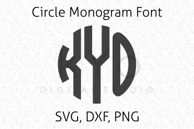 Circle Monogram Font Letters for Cricut Explore and Silhouette Cameo