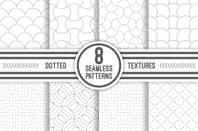 Set of dotted seamless textures