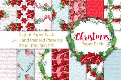 Christmas Paper Pack, Seamless Patterns