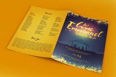 Emmanuel Christmas Program Template