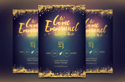 Emmanuel Christmas Flyer Template