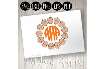 Acorn Circle Monogram Frame