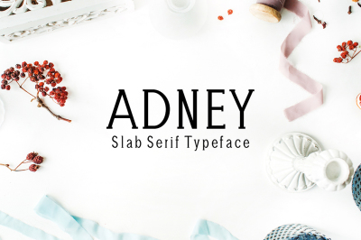 Adney Slab Serif Typeface
