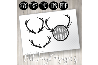 Deer Antlers and Monogram Frame