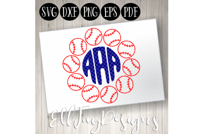 Baseball Monogram Frame