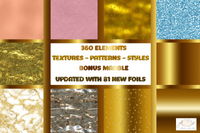 Textures-Glitter-Bonus Marble Bundle