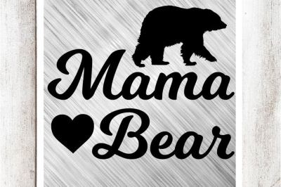 Mama Bear SVG/DXF/EPS File