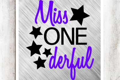Miss One Derful SVG/DXF/EPS file