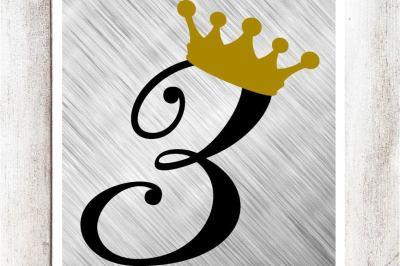 Princess Third Birthday SVG/DXF/EPS file