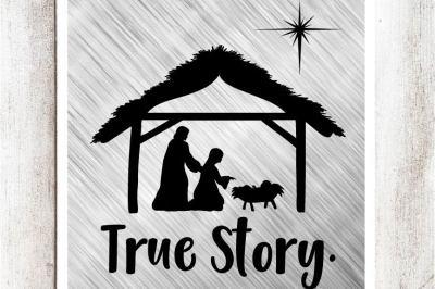 True Story Nativity SVG/DXF/EPS file
