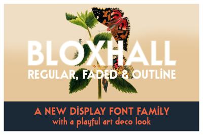 Bloxhall | a display font