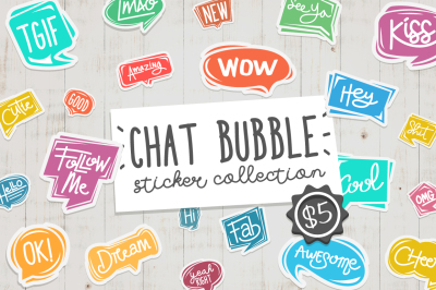 Chat Bubble Sticker Collection