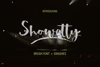 Showetty Brush Font