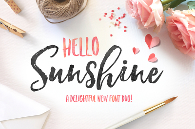 Hello Sunshine Font Duo