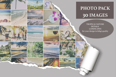 Photo pack of 30 tropical images