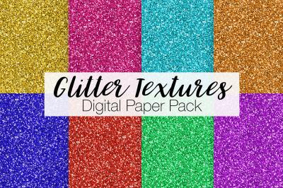 Glitter Textures Digital Paper Pack