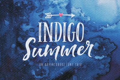 Indigo Summer Font Duo