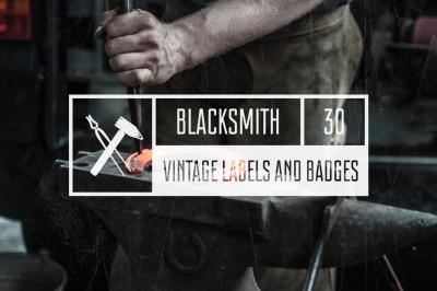 Vintage Blacksmith Labels & Badges