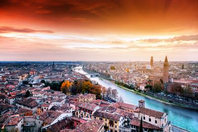 Verona at sunset