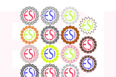 Sports Circle Monogram Frame Design - Bundle