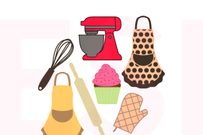Baking Design Set - SVG, DXF, EPS, PNG - Cutting Files