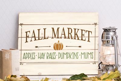 Fall Market SVG