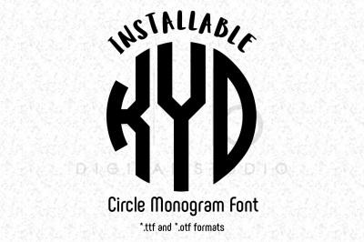 Circle Monogram Font in TTF and OTF formats Cricut fonts Cricut files