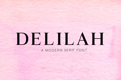 Delilah - A Modern Serif Font