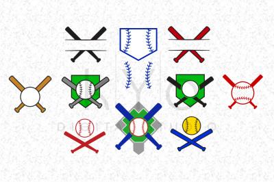 Baseball Bat Monogram frameSVG files, Baseball SVG files, Baseball Monogram SVG