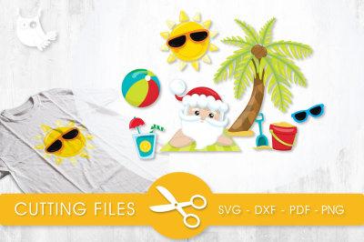 Beach Santa SVG, PNG, EPS, DXF, cut file