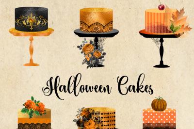 Halloween Cakes Clipart