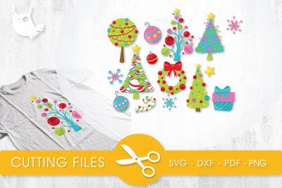 Christmas Decor SVG, PNG, EPS, DXF, cut file