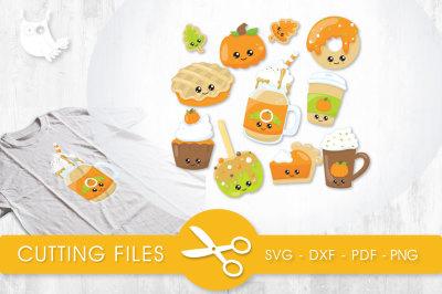 Cutesy Fall Treats SVG, PNG, EPS, DXF, cut file
