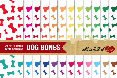 Dog Bone Graphics Bone Patterns Digital Background Paper