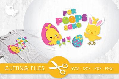 For Peeps Sake SVG, PNG, EPS, DXF, cut file