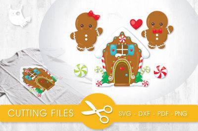 Ginger House SVG, PNG, EPS, DXF, cut file