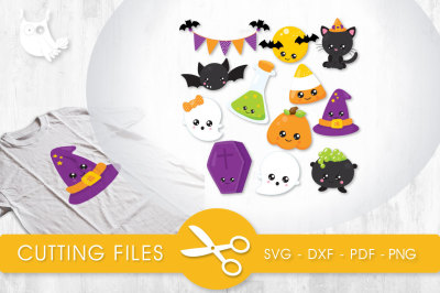 Halloween Cuties SVG, PNG, EPS, DXF, cut file